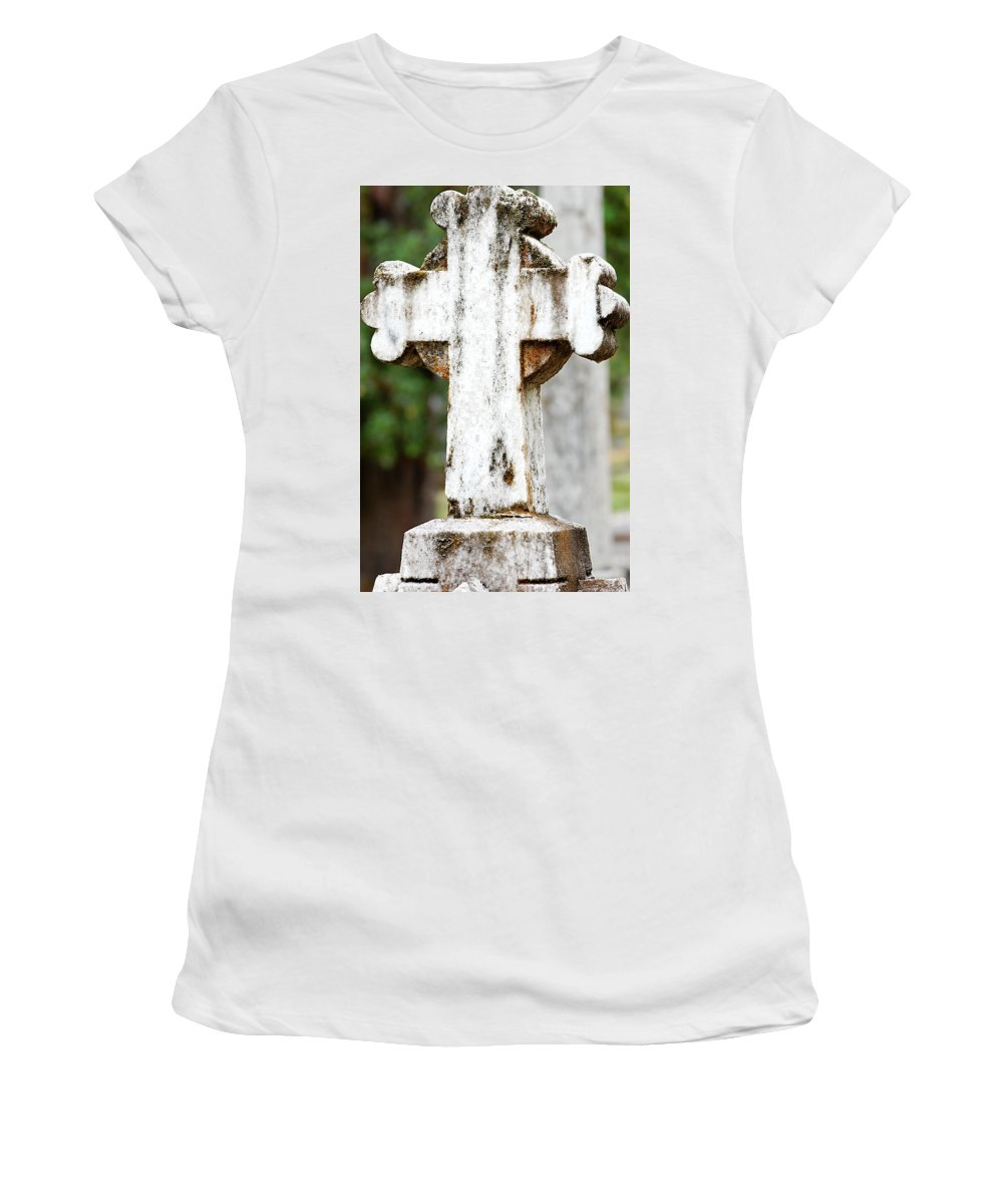Stone Women's T-Shirt featuring the photograph Cross Of Stone by Tara Fisher