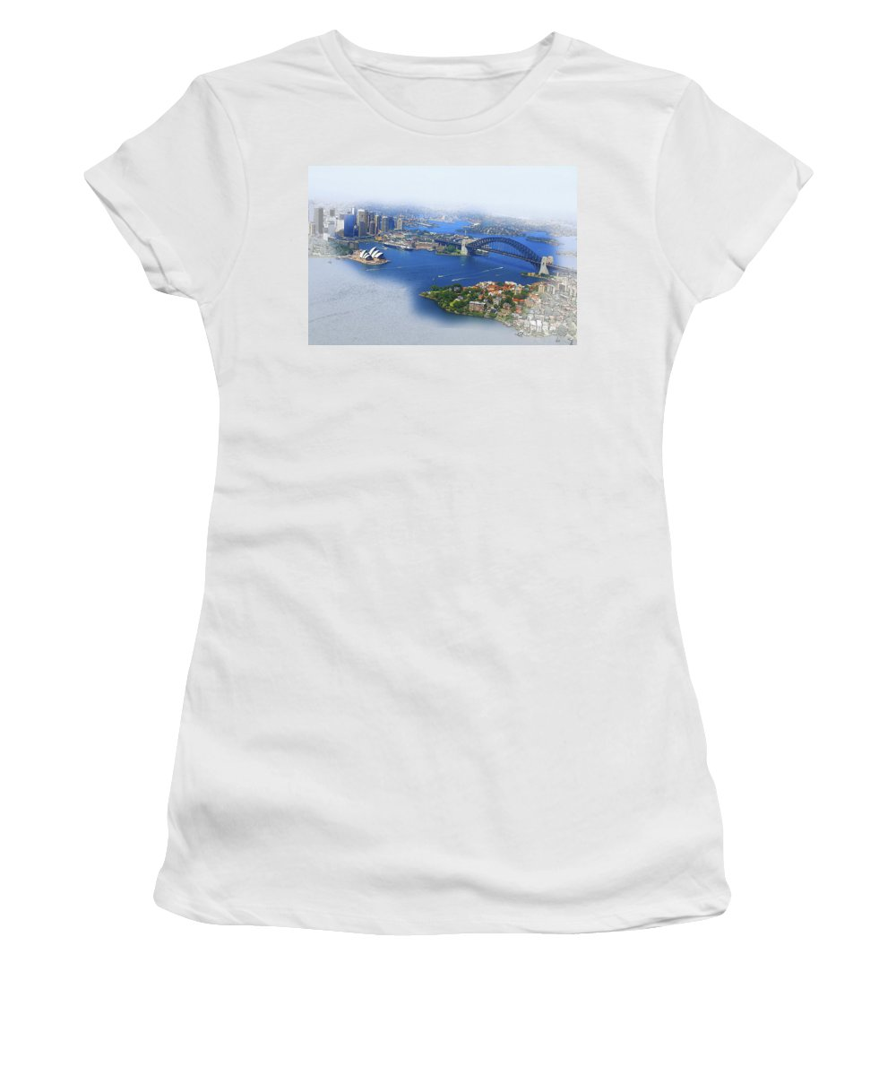 Art & Collectibles Women's T-Shirt featuring the digital art Cruise Sydney by Don Kuing