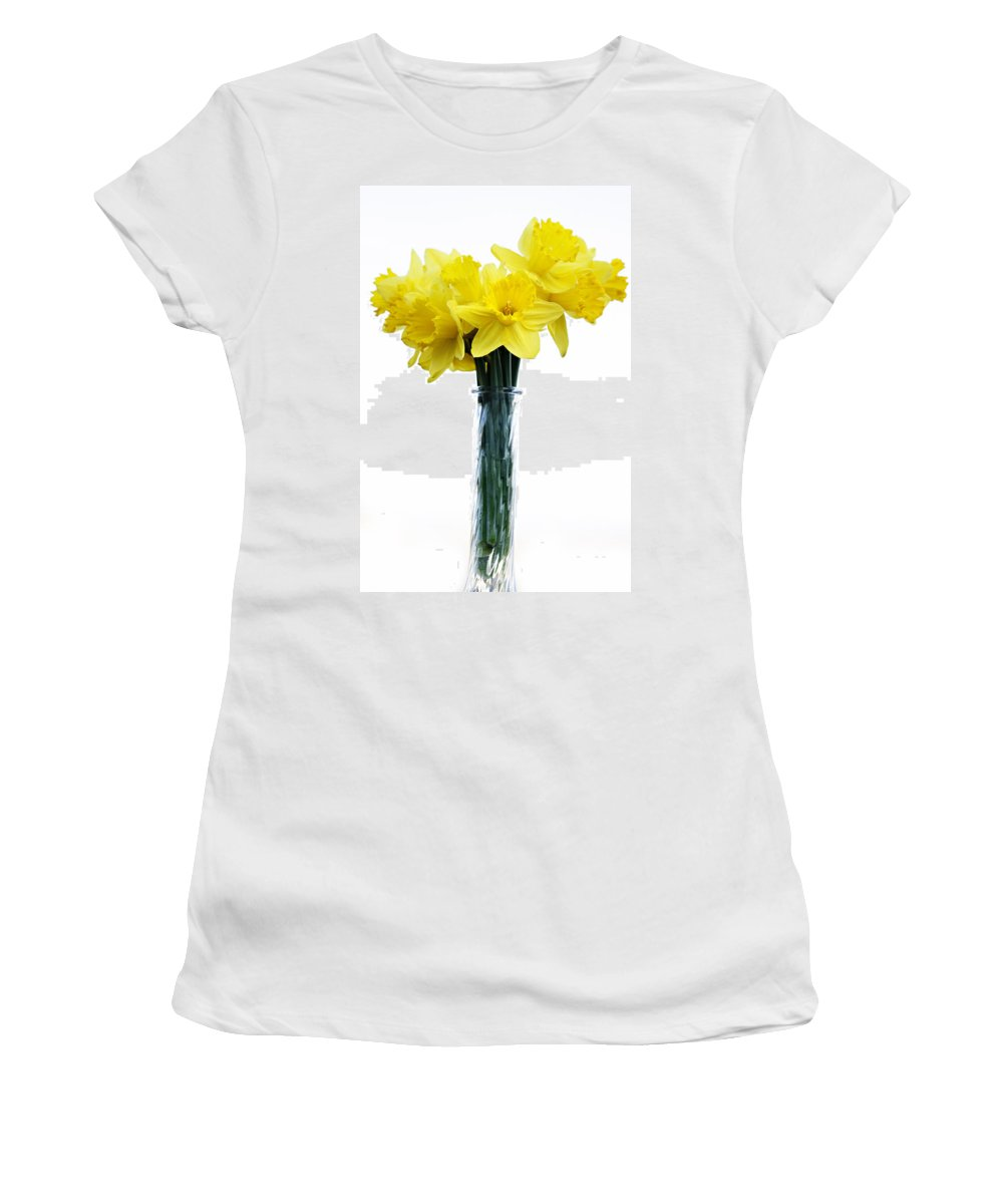 Daffodil Women's T-Shirt (Athletic Fit) featuring the photograph Daffodil by Marilyn Hunt
