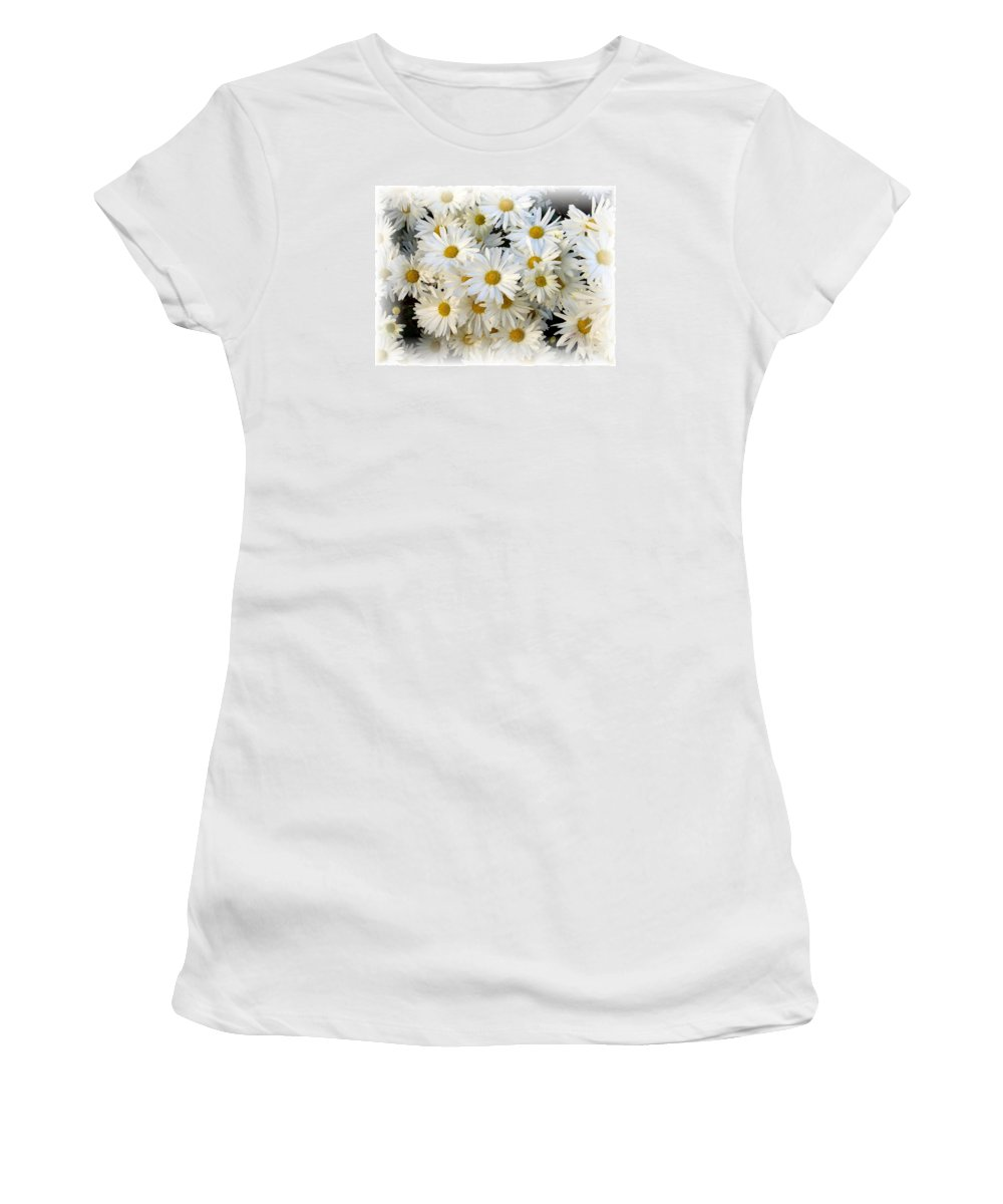 Daisy Women's T-Shirt (Athletic Fit) featuring the photograph Daisy Bouquet by Carol Sweetwood