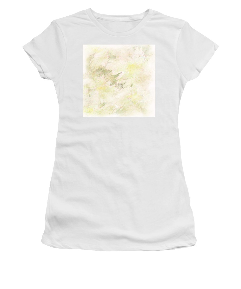 Abstract Women's T-Shirt (Athletic Fit) featuring the digital art Daisy Dreams by Rachel Christine Nowicki