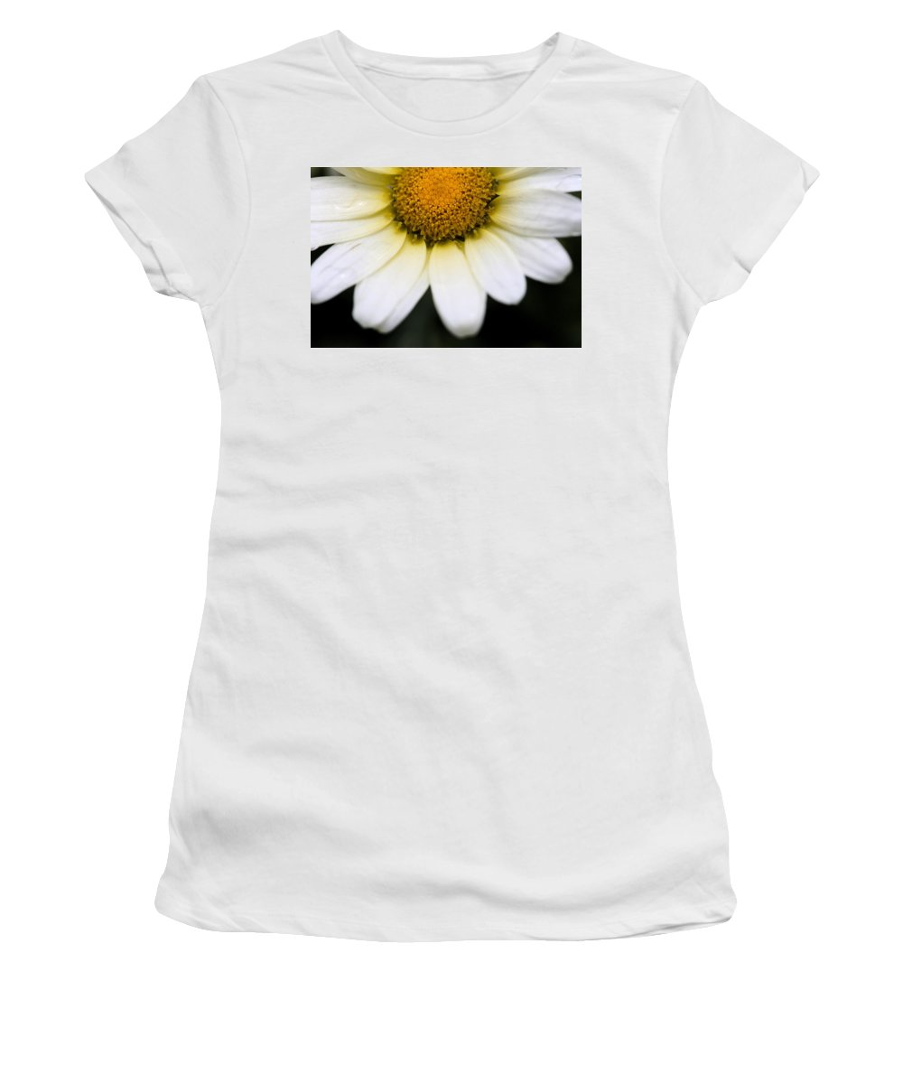 Flower Women's T-Shirt (Athletic Fit) featuring the photograph Daisy Smile by Angela Rath