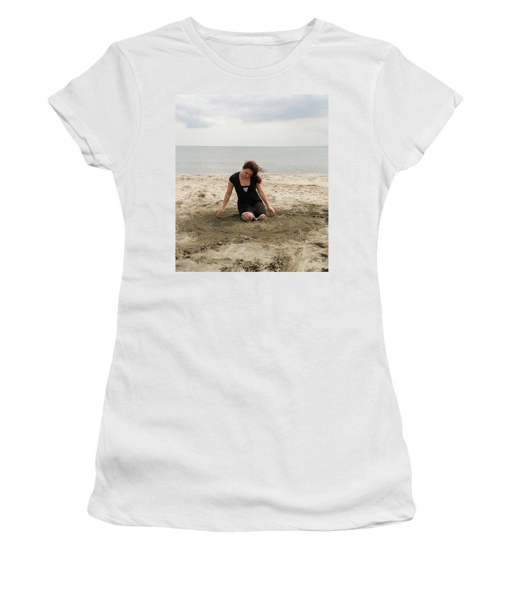 Beach Women's T-Shirt (Athletic Fit) featuring the photograph Dance Digital by Elitsa Ivanova
