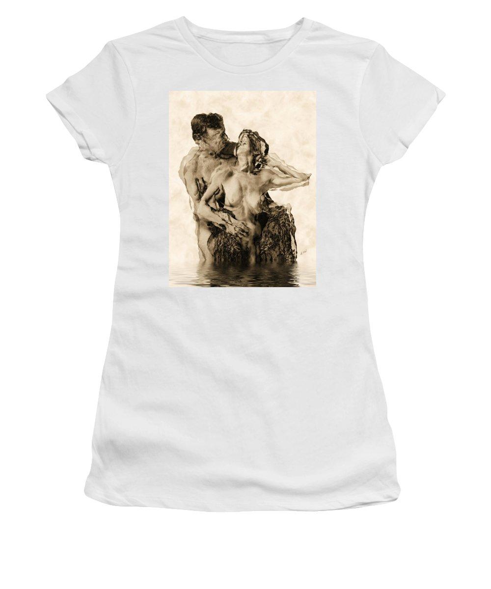 Lovers Women's T-Shirt featuring the photograph Dance by Kurt Van Wagner