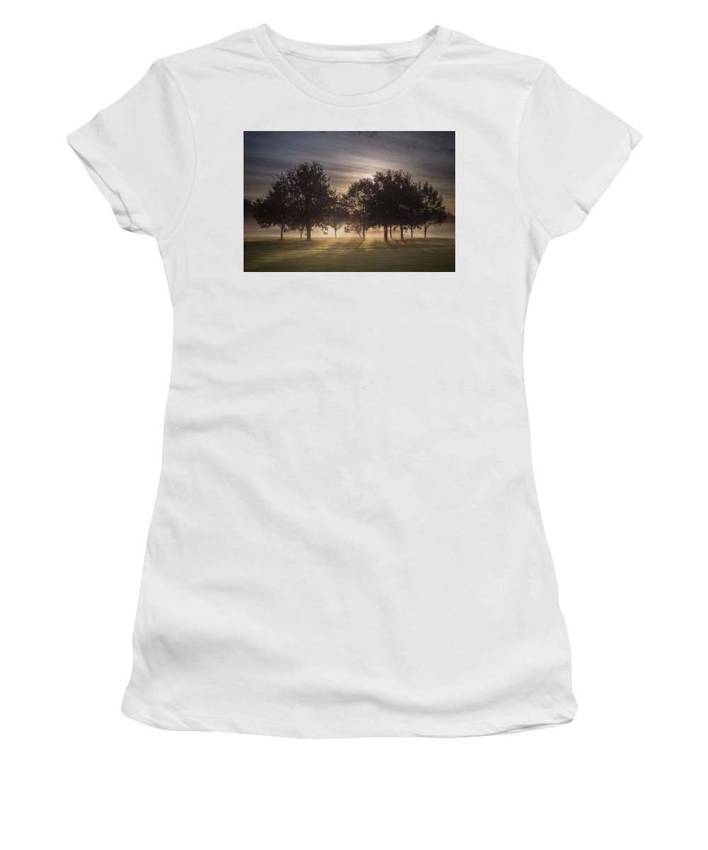 Autumn Women's T-Shirt (Athletic Fit) featuring the photograph Dawn by Chris Fletcher
