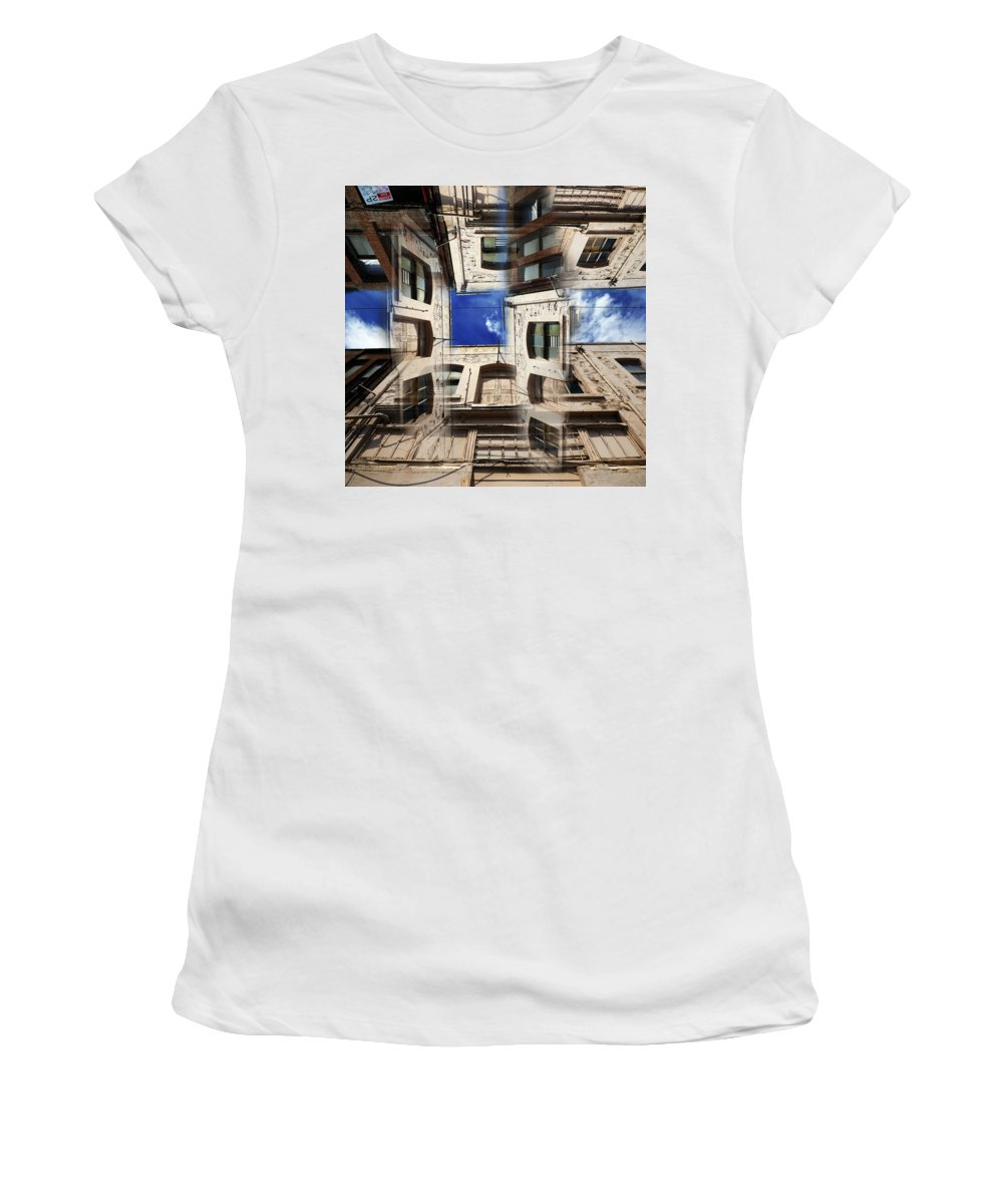 Abstract Women's T-Shirt (Athletic Fit) featuring the photograph Deception by Wayne Sherriff