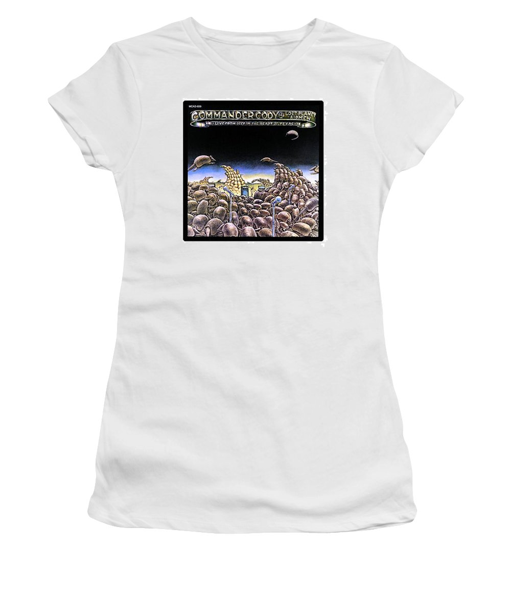 Women's T-Shirt (Athletic Fit) featuring the digital art Deep From The Heart Of Texas by Commander Cody