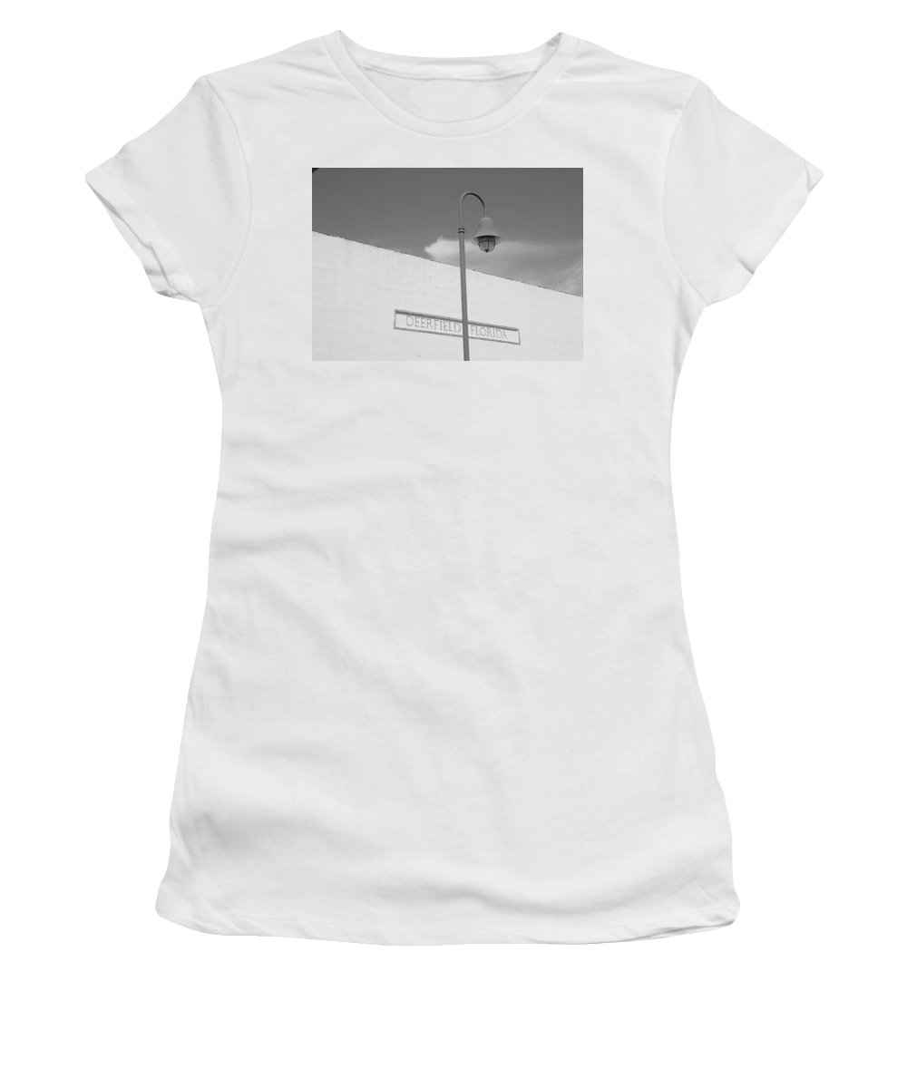 Black And White Women's T-Shirt featuring the photograph Deerfield Florida by Rob Hans