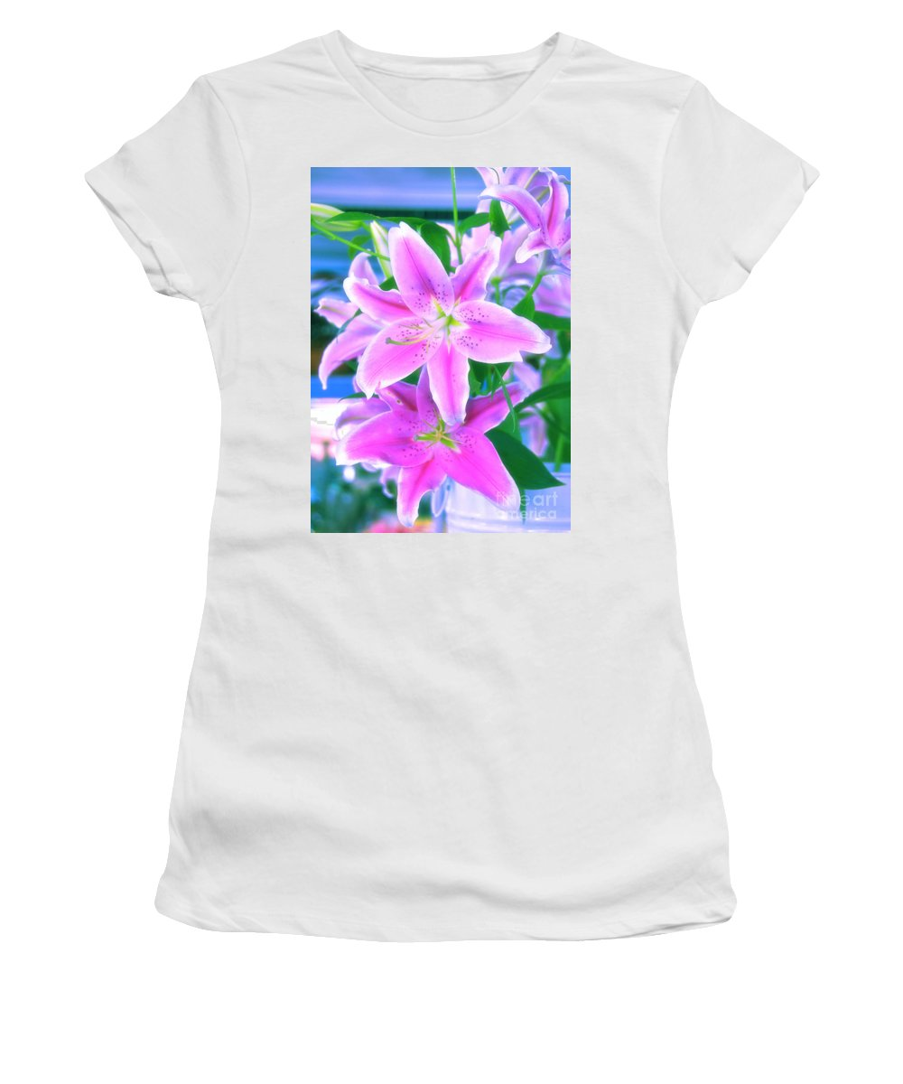 Flowers Women's T-Shirt featuring the photograph Delightful by Charuhas Images