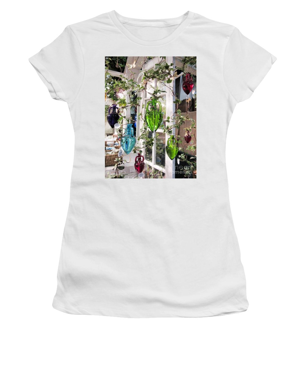 Hanging Water Gardens Women's T-Shirt (Athletic Fit) featuring the photograph Delightful Hanging Gardens by Elizabeth Duggan