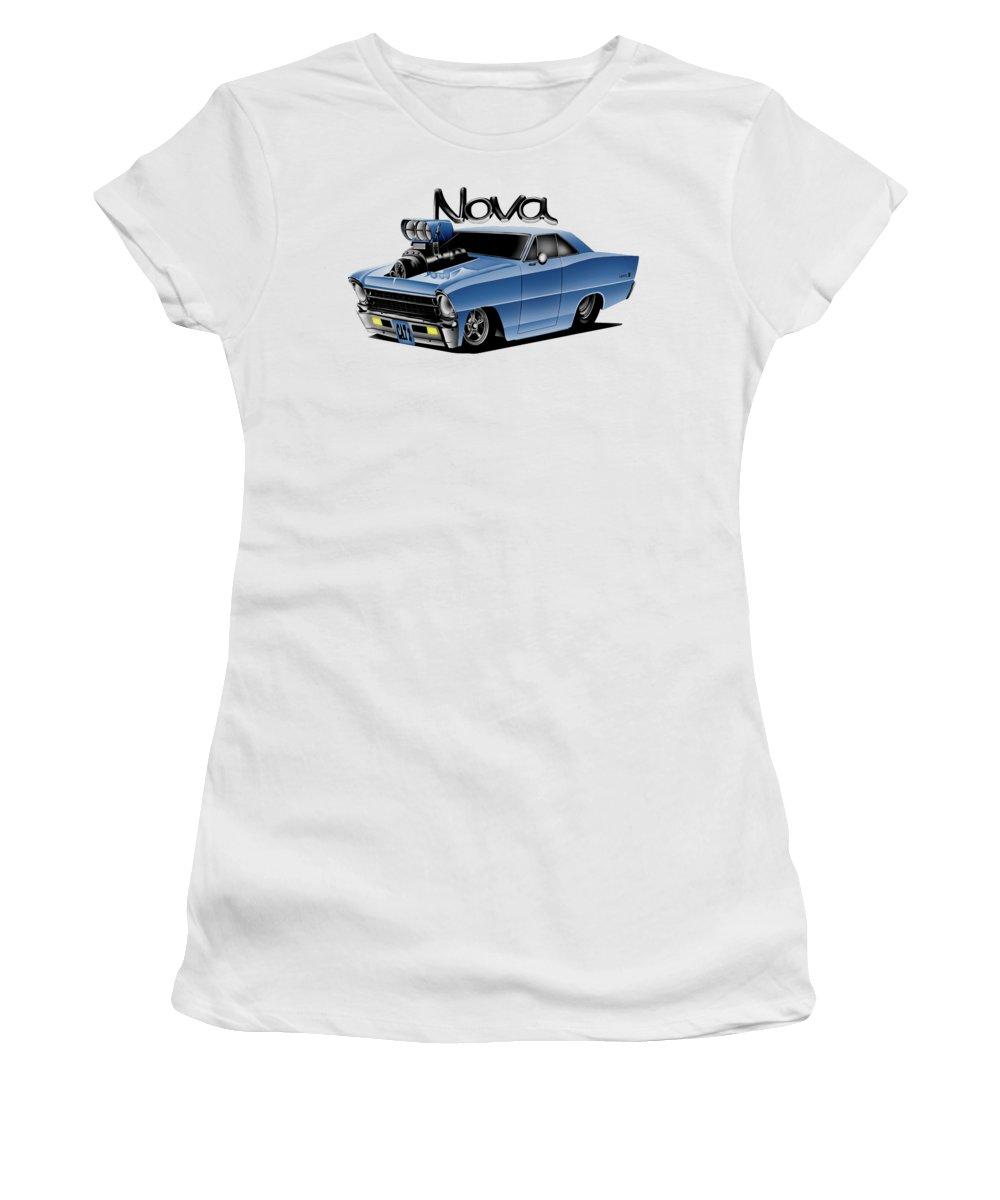 Nova Women's T-Shirt (Athletic Fit) featuring the digital art Digital Nova by Lyle Brown