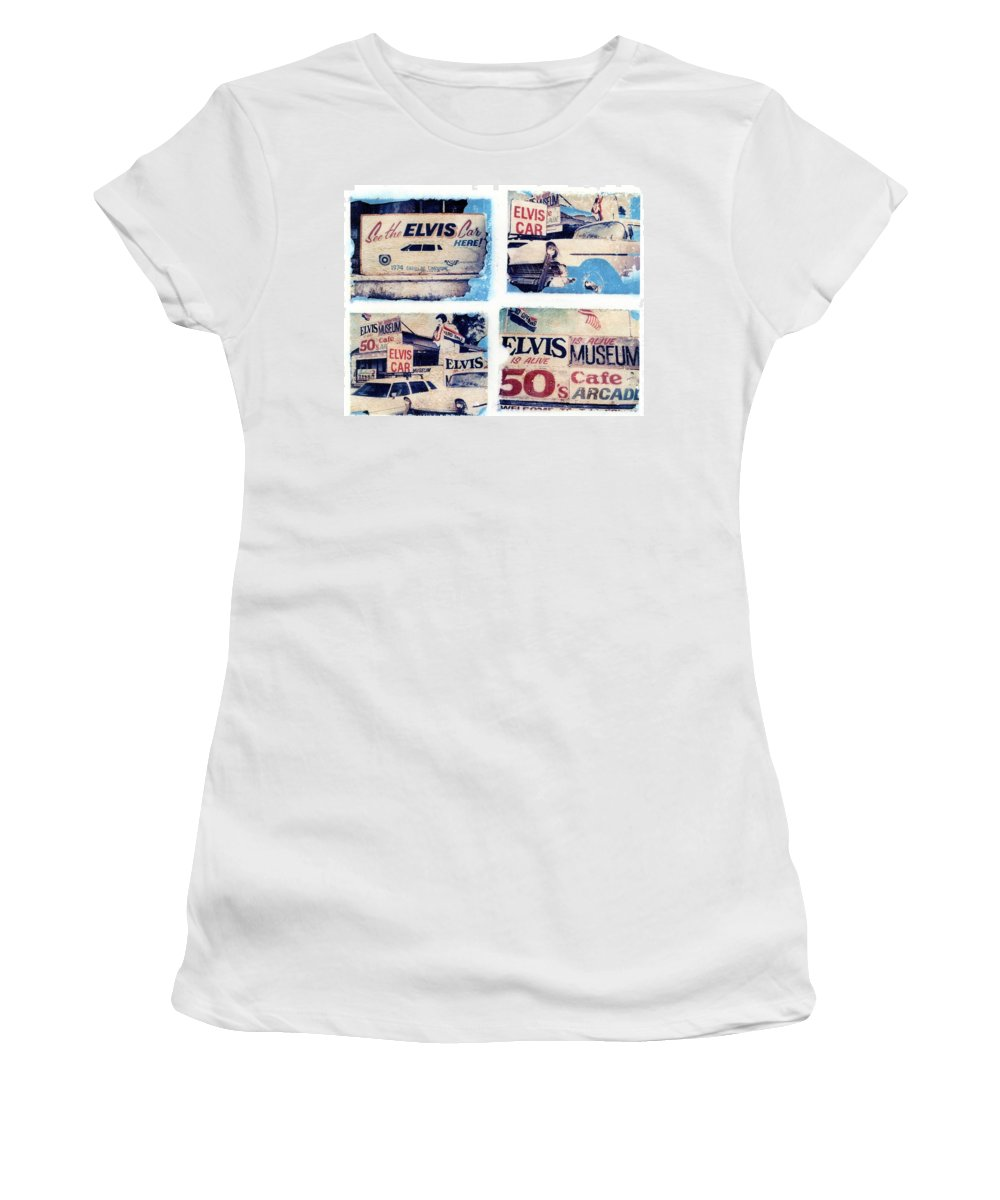 Elvis Women's T-Shirt (Athletic Fit) featuring the photograph Disgraceland by Jane Linders