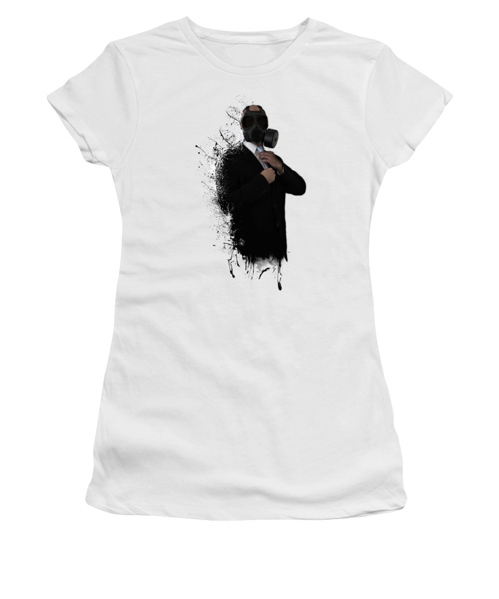 Gas Women's T-Shirt featuring the photograph Dissolution Of Man by Nicklas Gustafsson
