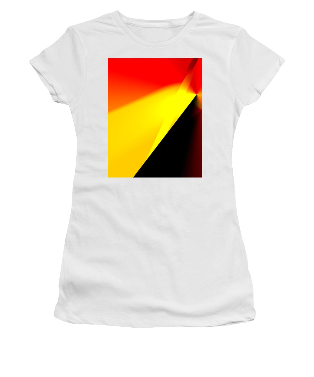 Abstract Women's T-Shirt (Athletic Fit) featuring the digital art Distant Shore by Ian MacDonald
