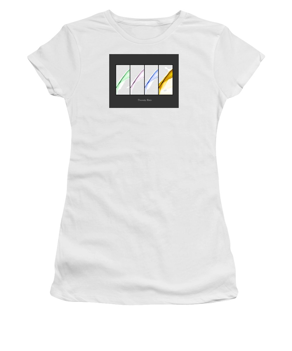 Rainbow Women's T-Shirt (Athletic Fit) featuring the photograph Diversity Rules by Vivian Frerichs