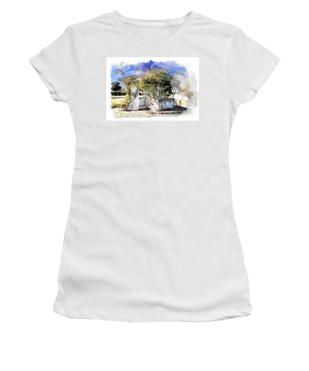 Gazebo Women's T-Shirt (Athletic Fit) featuring the photograph Do-00118 Gazebo by Digital Oil
