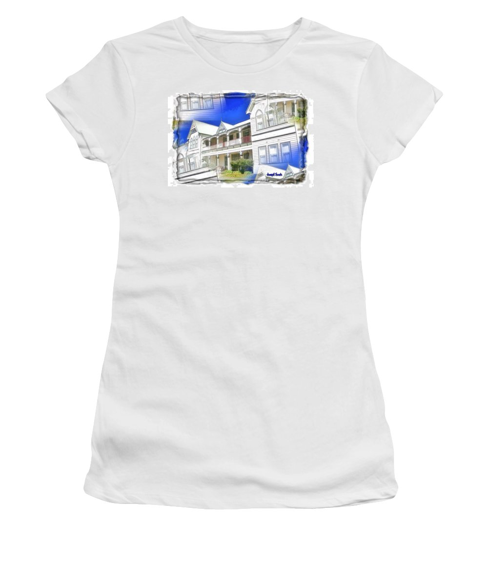 Front Women's T-Shirt (Athletic Fit) featuring the photograph Do-00270 Dreamy Front Of Peppers Convent by Digital Oil