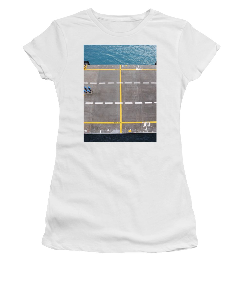Port Women's T-Shirt (Athletic Fit) featuring the photograph Do Not Cross by Are Lund