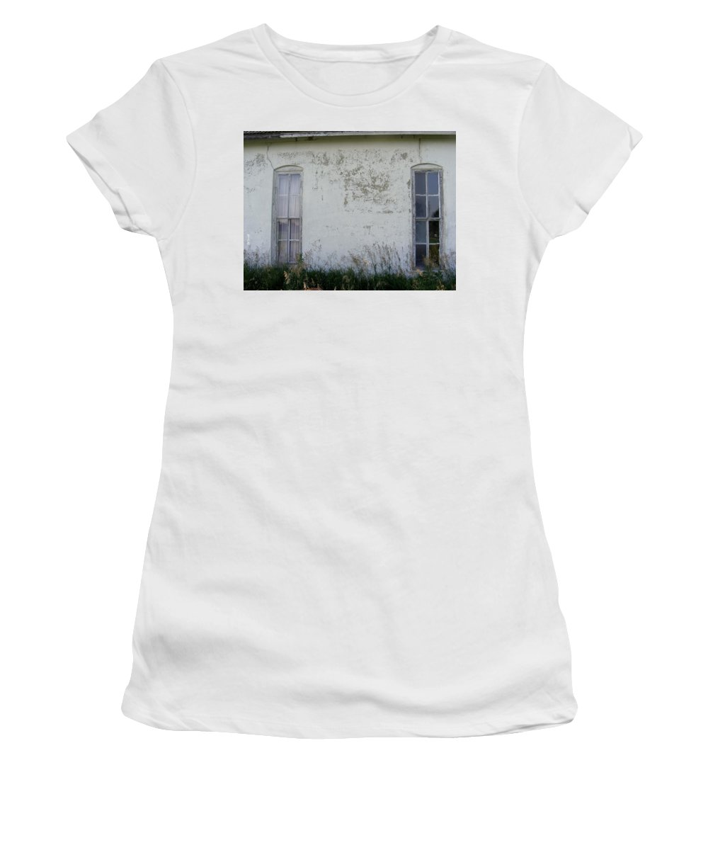 Double Vision Women's T-Shirt (Athletic Fit) featuring the photograph Double Vision by Ed Smith