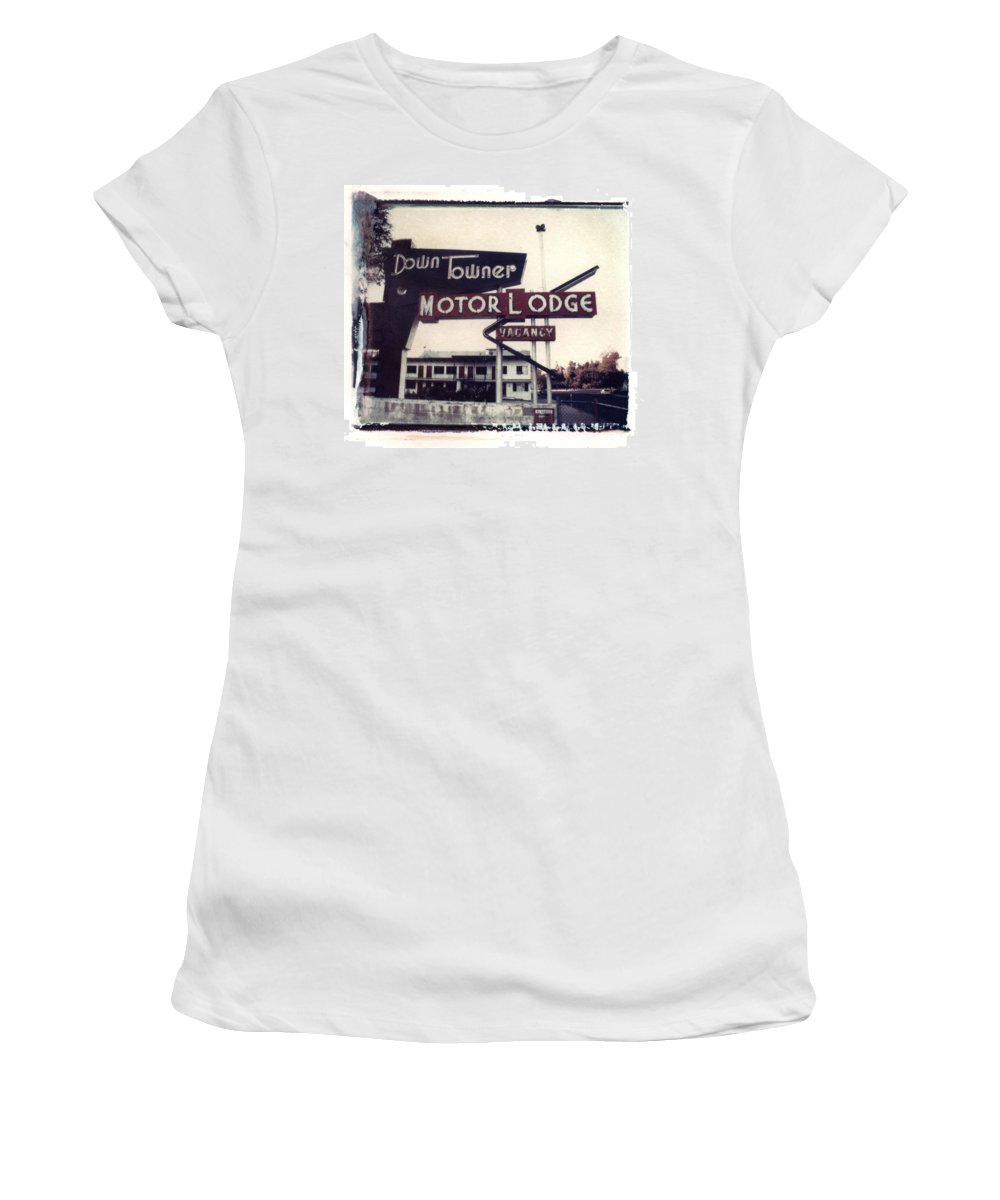 Landscape Women's T-Shirt (Athletic Fit) featuring the photograph Down Towner by Jane Linders