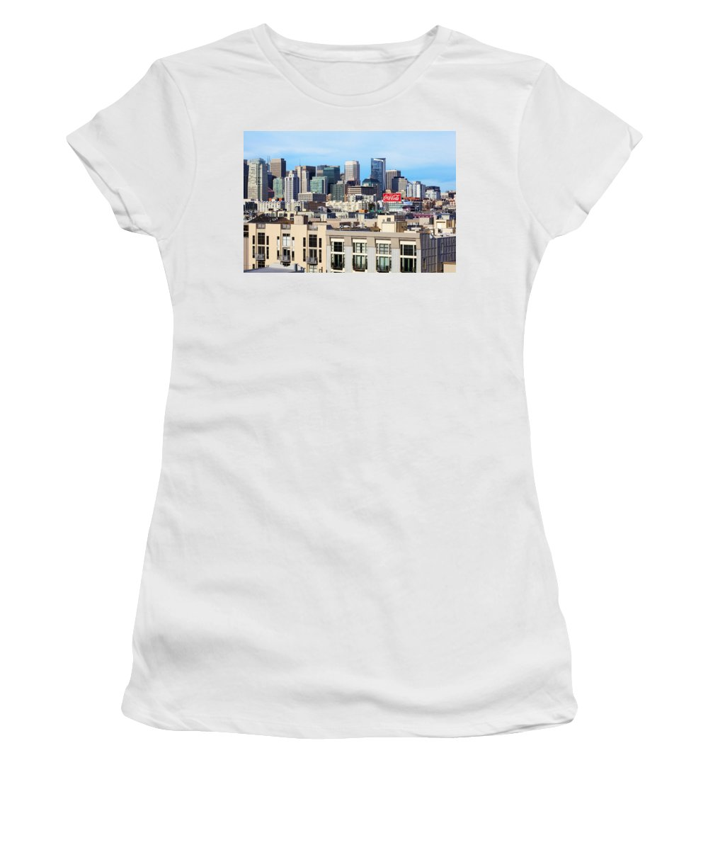 San Francisco Women's T-Shirt featuring the photograph Downtown San Francisco by Kelley King