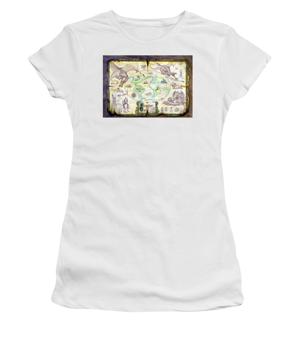 Dragon Women's T-Shirt featuring the photograph Dragons Of The World by MGL Meiklejohn Graphics Licensing