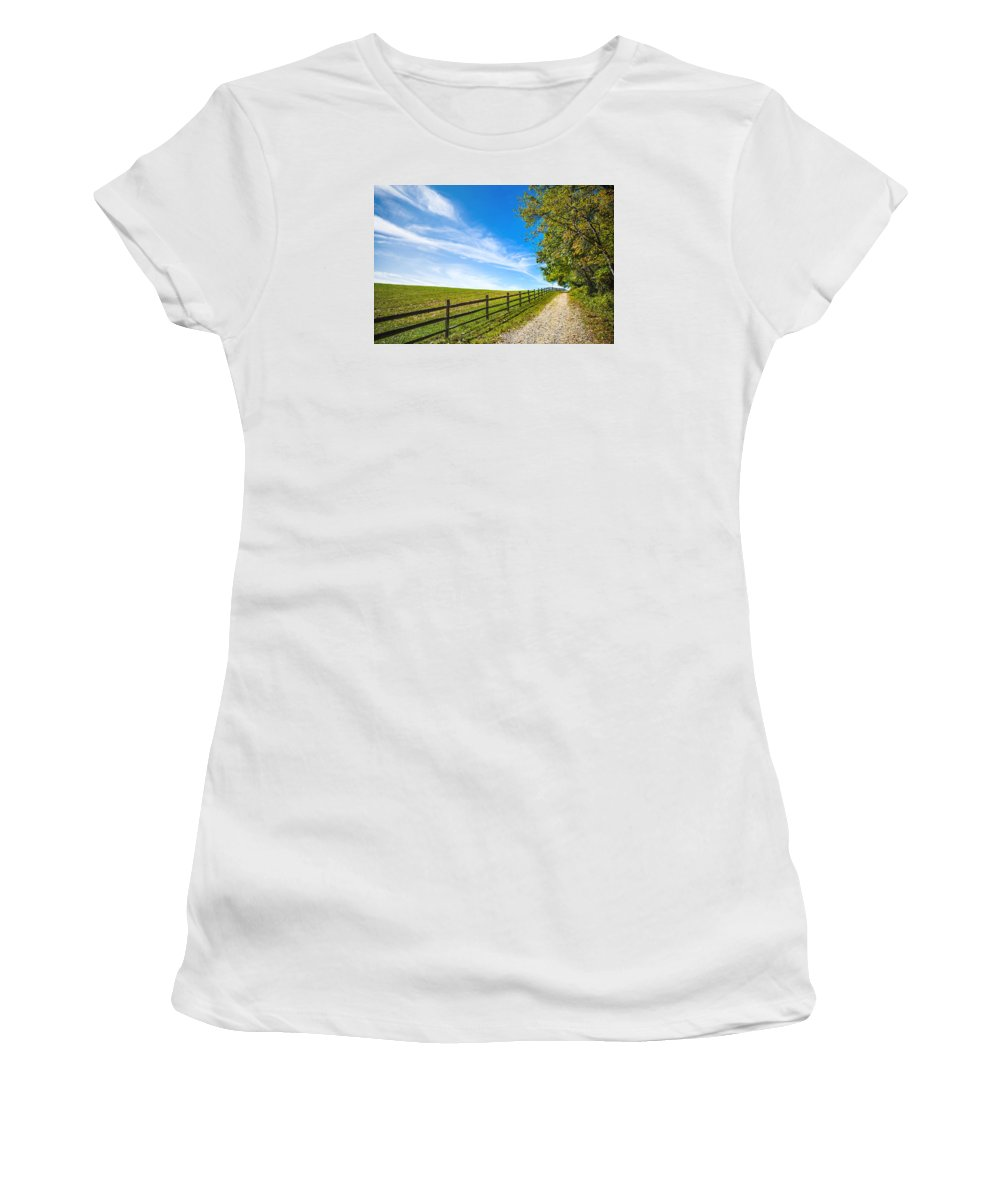 Path Women's T-Shirt (Athletic Fit) featuring the photograph Dream Path by Ihor Turko