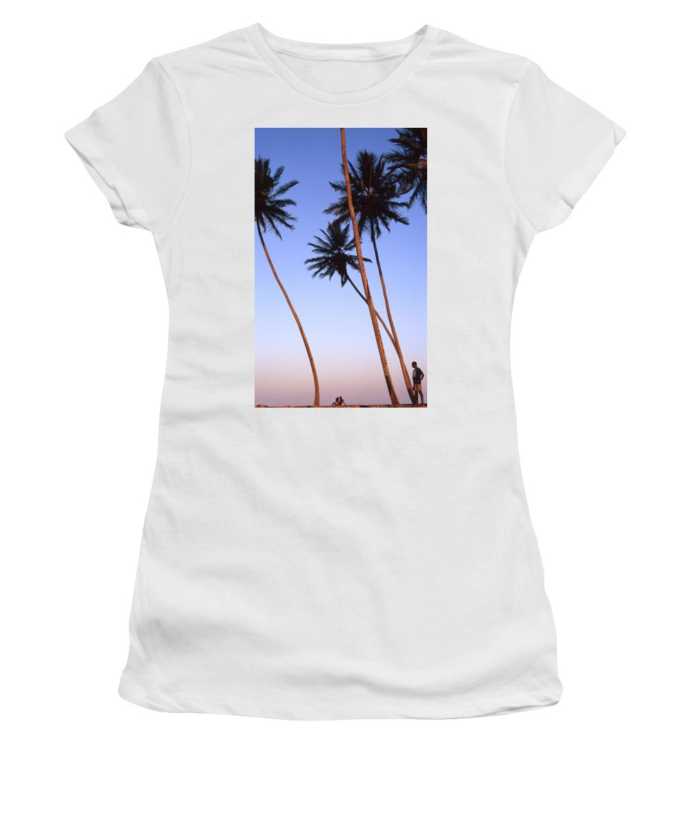 Bahia Women's T-Shirt (Athletic Fit) featuring the photograph Dusk In Morro by Patrick Klauss