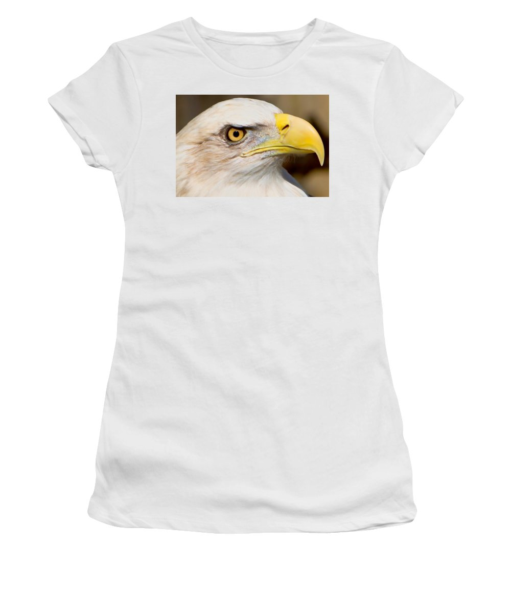 American Eagle Women's T-Shirt (Athletic Fit) featuring the photograph Eagle Eye by William Jobes