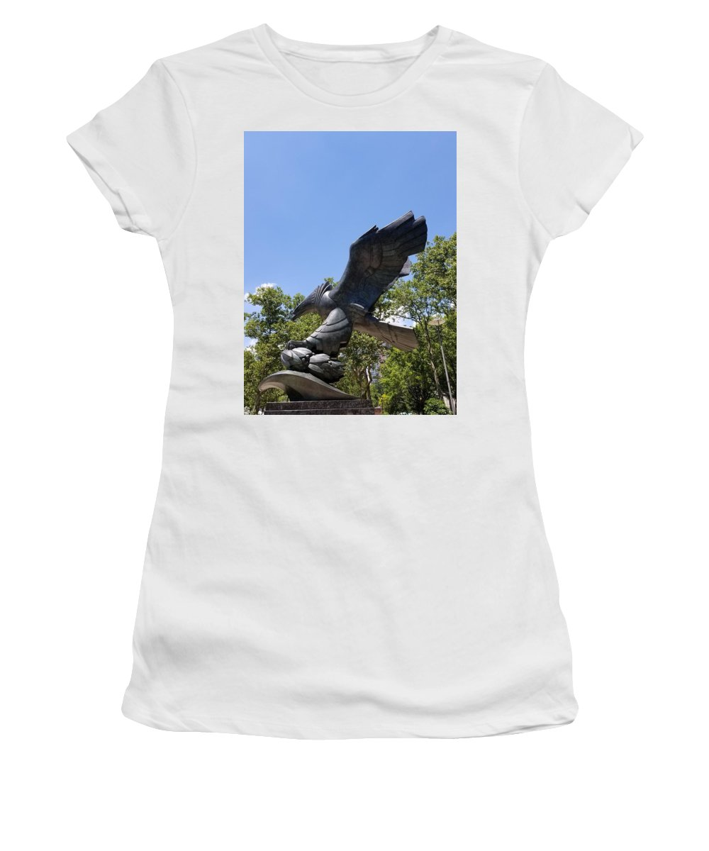 Abstract Art Women's T-Shirt featuring the photograph Eagle Statue by Rob Hans