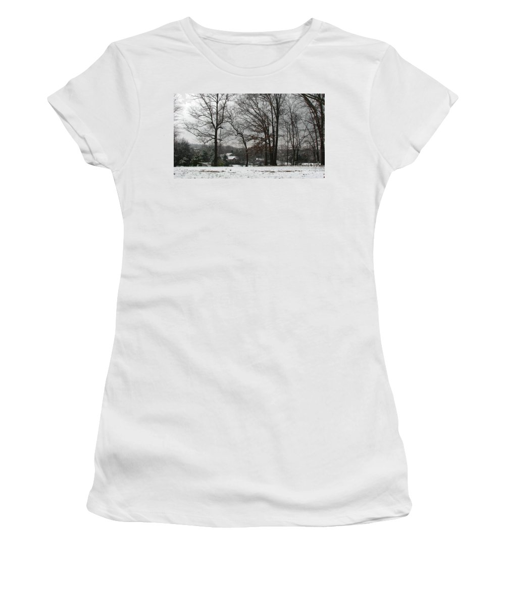 Landscape Women's T-Shirt featuring the photograph East Tennessee Winter by Todd Blanchard