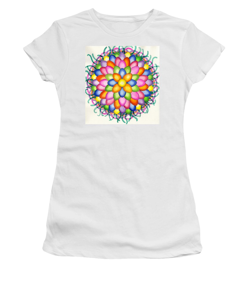 Easter Women's T-Shirt (Athletic Fit) featuring the painting Easter Design by Catherine G McElroy