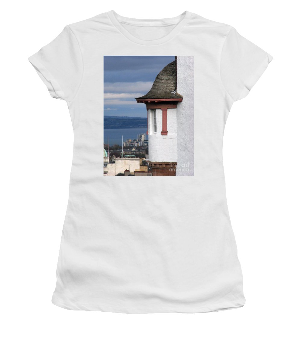 Scotland Women's T-Shirt (Athletic Fit) featuring the digital art Edinburgh Scotland by Amanda Barcon