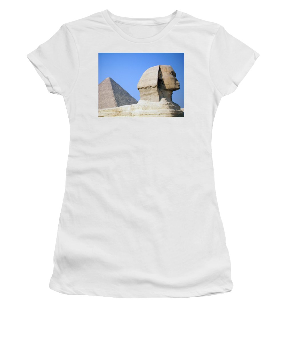 Egypt Women's T-Shirt (Athletic Fit) featuring the photograph Egypt - Pyramids Abu Alhaul by Munir Alawi