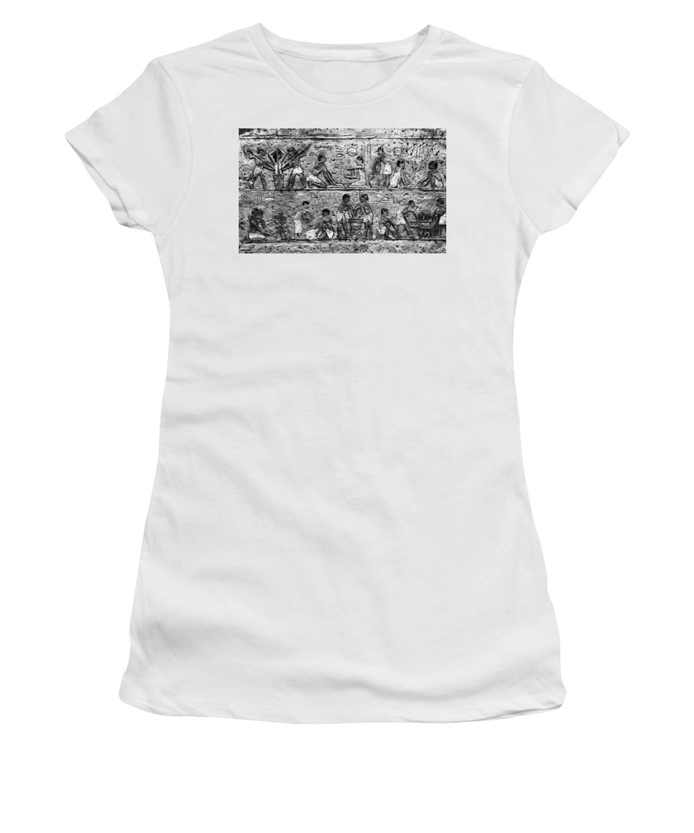 Egyptian Women's T-Shirt (Athletic Fit) featuring the photograph Egyptian Writing by David Lee Thompson