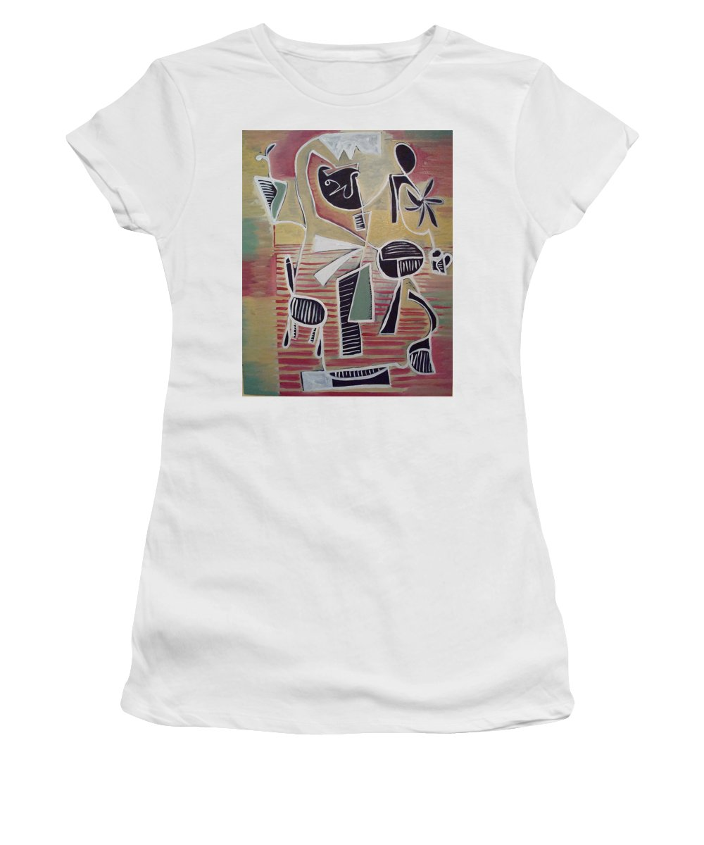 Abstract Women's T-Shirt (Athletic Fit) featuring the painting End Cup by W Todd Durrance