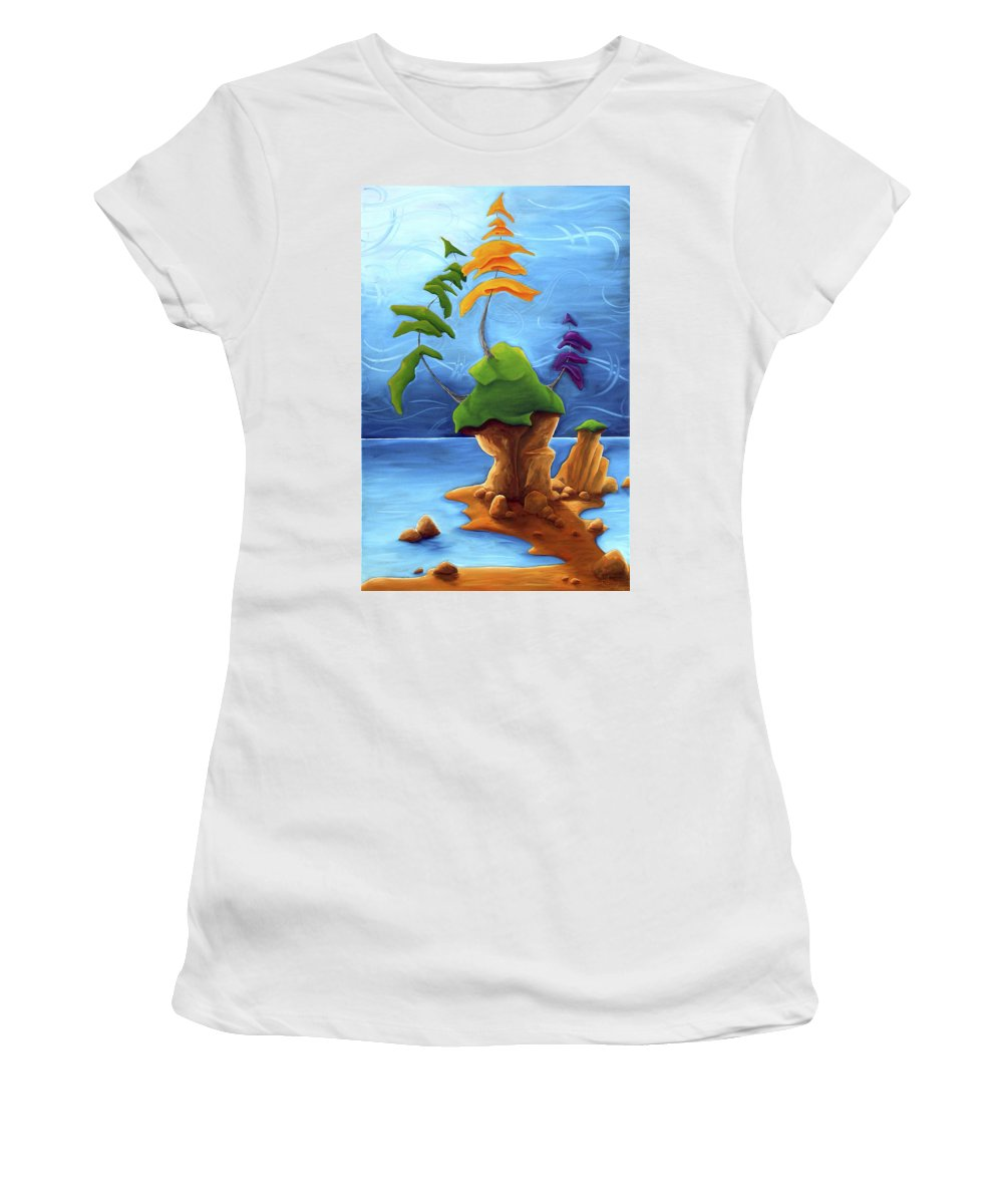 Landscape Women's T-Shirt (Athletic Fit) featuring the painting Enraptured by Richard Hoedl