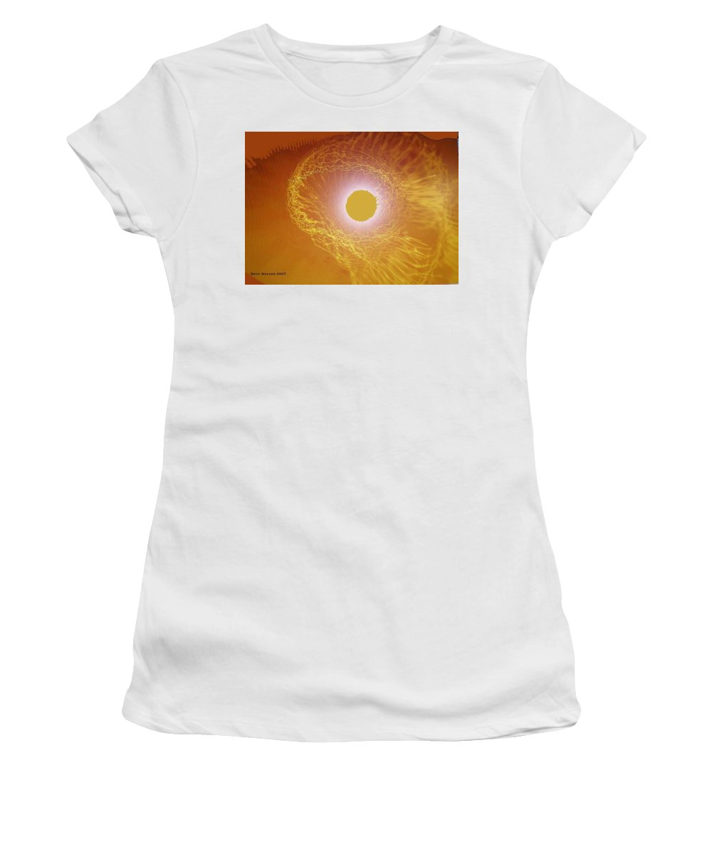 The Powerful Gaze Of The Almighty. Destroying Evil With His Almighty Sight. Women's T-Shirt (Athletic Fit) featuring the digital art Eye Of God by Seth Weaver