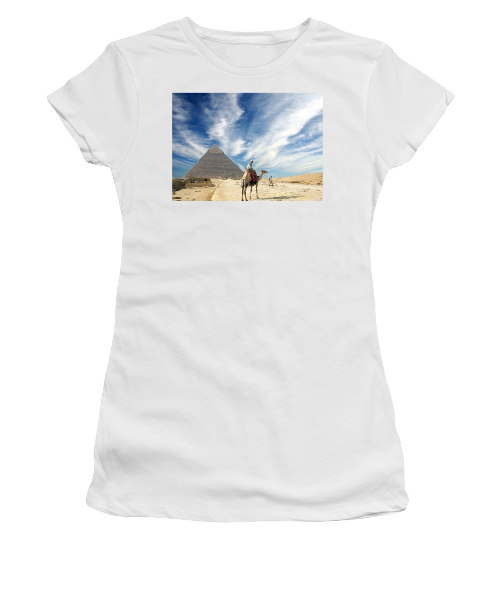 Egypt Women's T-Shirt (Athletic Fit) featuring the photograph Eye On Egypt by Munir Alawi