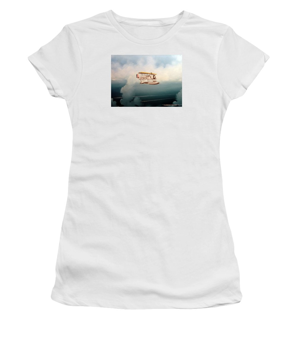 Military Women's T-Shirt featuring the painting Eyes Of The Fleet by Marc Stewart