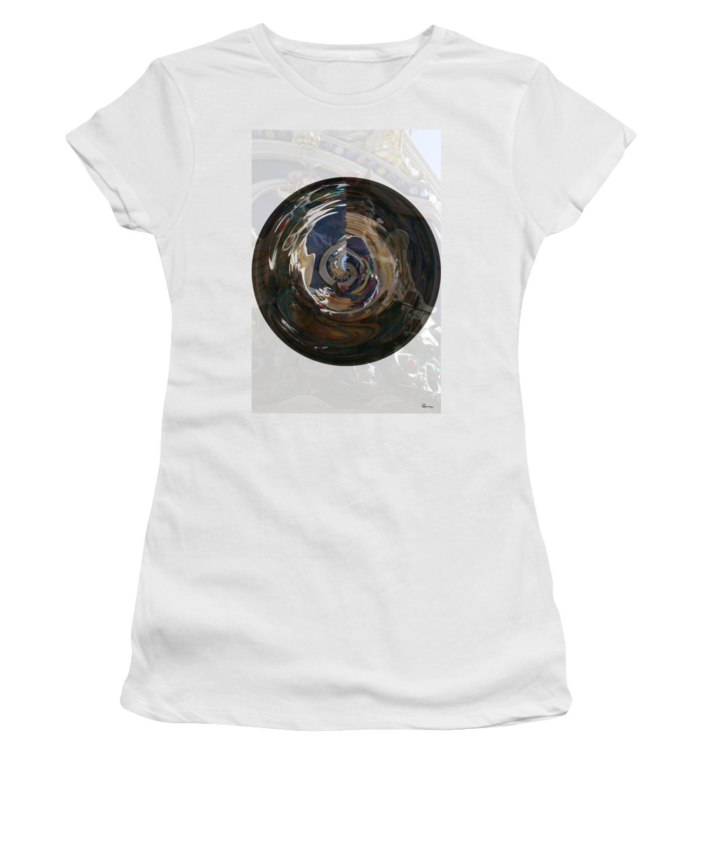 Women Lady Girl World Space Portal Relm Escape Abstract Women's T-Shirt (Athletic Fit) featuring the photograph Faded Lady by Andrea Lawrence