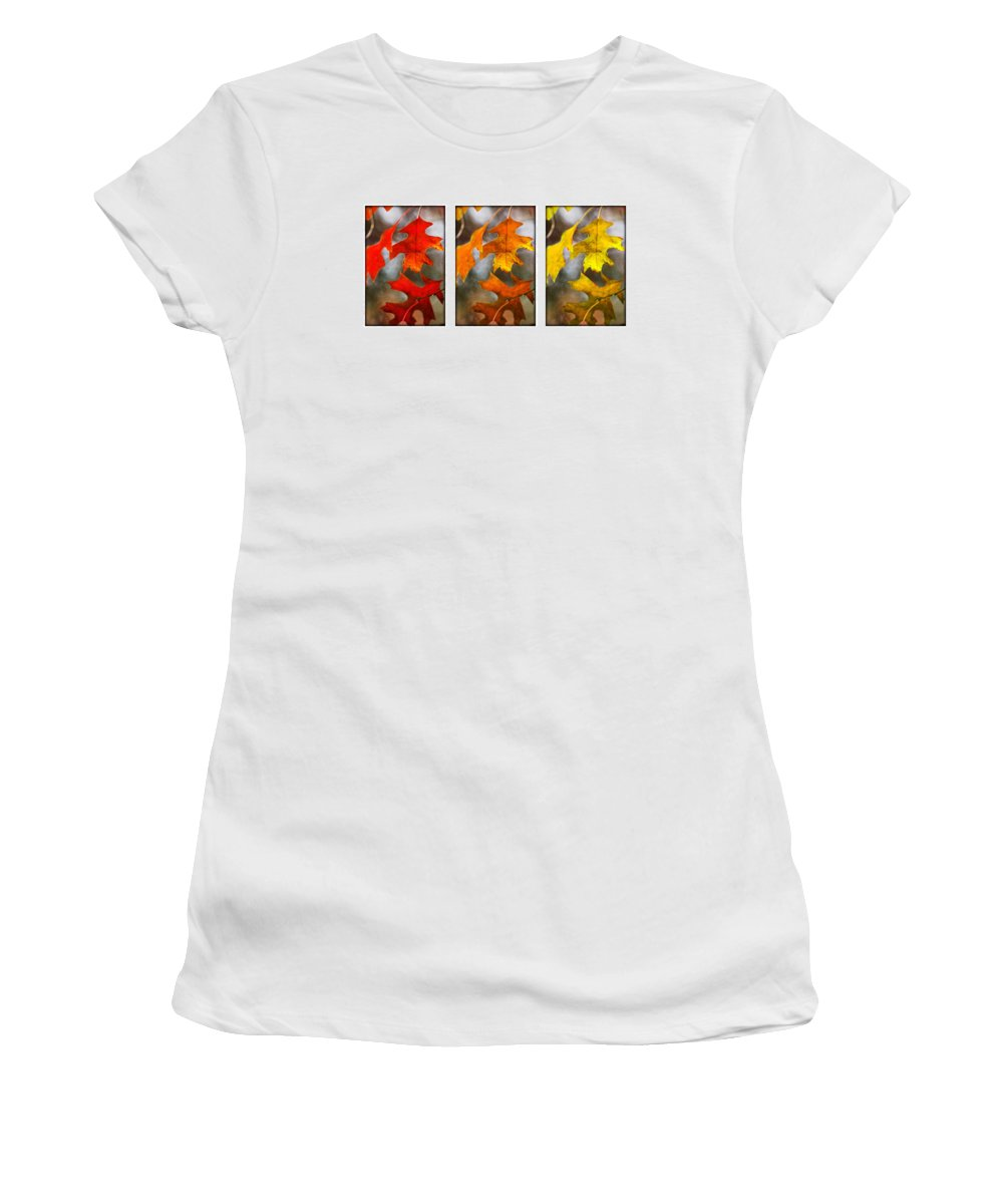 Leaves Women's T-Shirt featuring the photograph Fall Leaves by Jill Reger