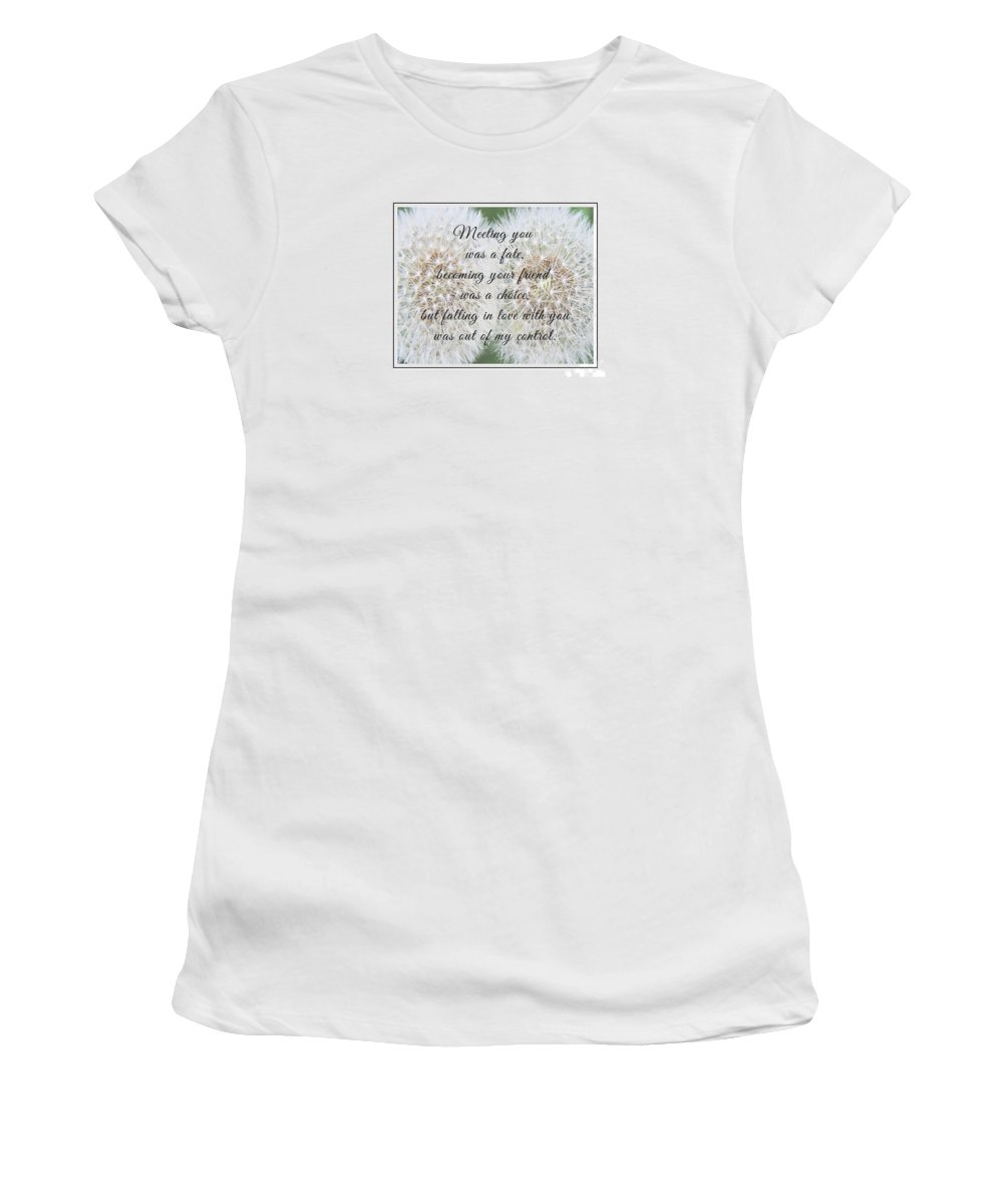 Falling In Love Women's T-Shirt (Athletic Fit) featuring the photograph Falling In Love 3 by Barbara Griffin