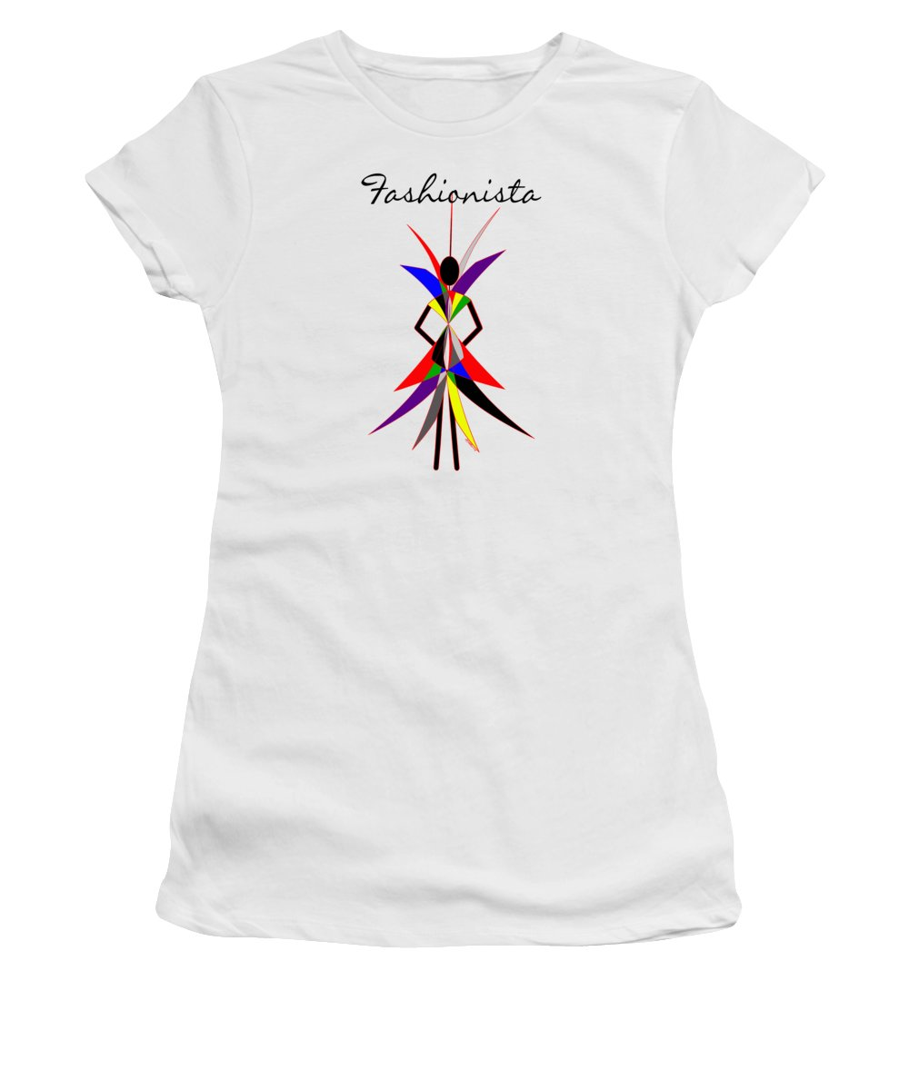 Fashionista Women's T-Shirt featuring the digital art Fashionista by Methune Hively