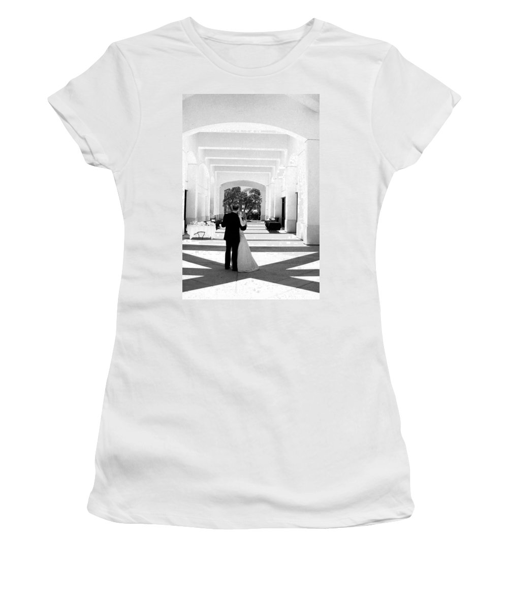 Dance Women's T-Shirt (Athletic Fit) featuring the photograph Father And Bride by Anthony Jones