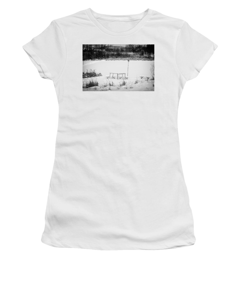 Hockey Women's T-Shirt (Athletic Fit) featuring the photograph Field Of Dreams by Doug Gibbons