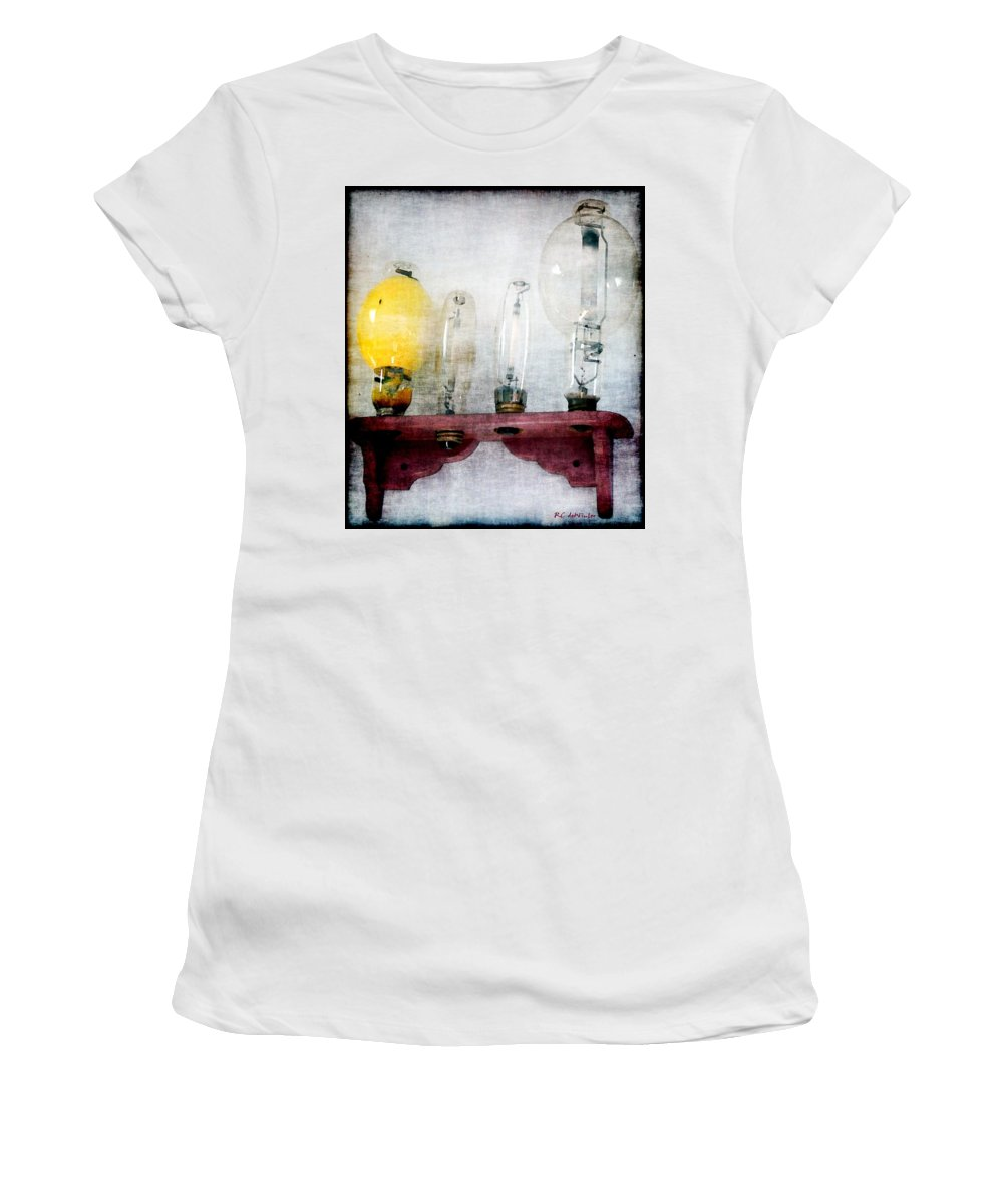 Antiques Women's T-Shirt featuring the painting 'filamentary My Dear Watson' by RC DeWinter