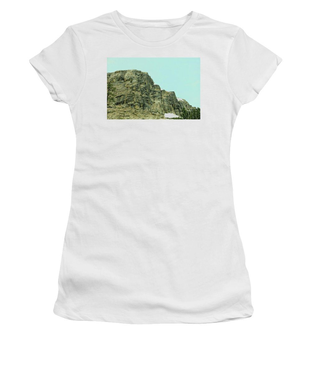 Donner Women's T-Shirt (Athletic Fit) featuring the photograph Find The Climbers by Donna Blackhall