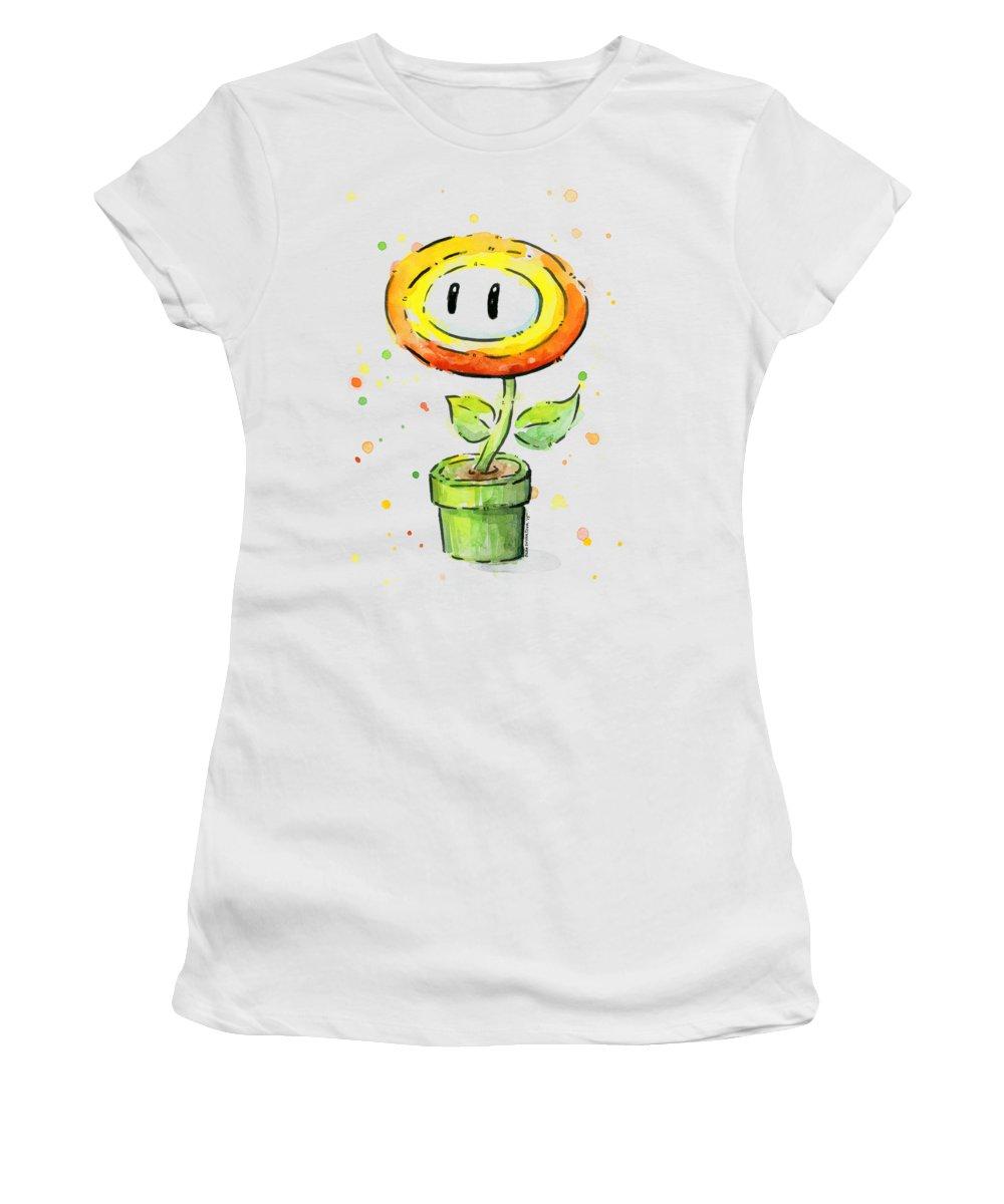 Orange Flower Women's T-Shirts