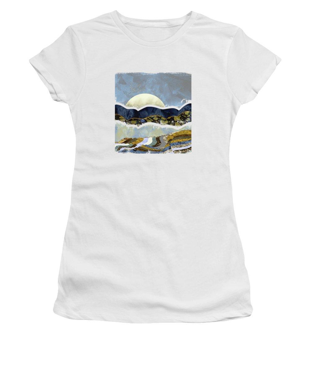 Sky Women's T-Shirt featuring the digital art Firefly Sky by Katherine Smit